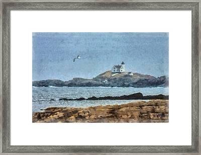 Nubble Light On Cape Neddick Framed Print by Jeff Folger