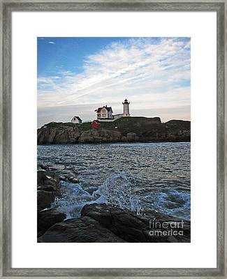 Nubble Light Portrait Framed Print