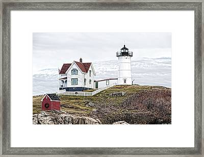 Framed Print featuring the photograph Nubble Light by Richard Bean
