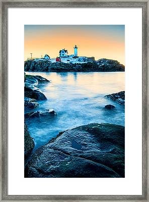 Nubble Light Framed Print by Thomas Schoeller