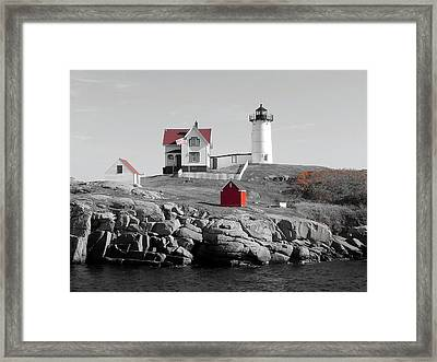 Nubble Light Framed Print by Timothy Caron