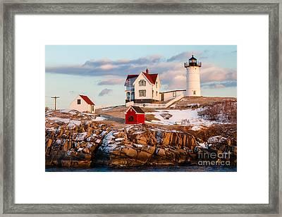 Nubble Light York Maine Framed Print