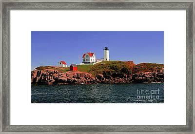 Nubble Lighthouse-cape Neddick Framed Print