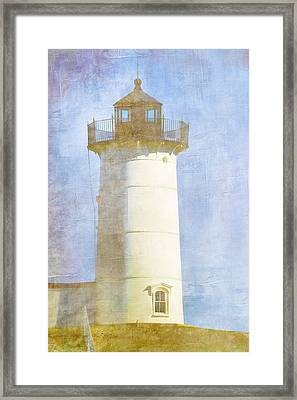 Nubble Lighthouse Framed Print by Carol Leigh