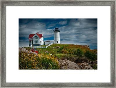 Nubble Lighthouse Framed Print by Fred LeBlanc