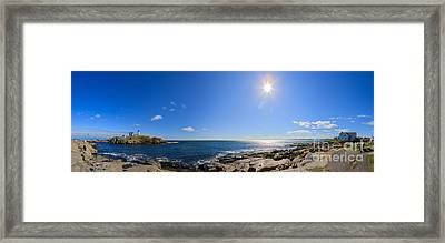 Nubble Lighthouse Framed Print by Henk Meijer Photography