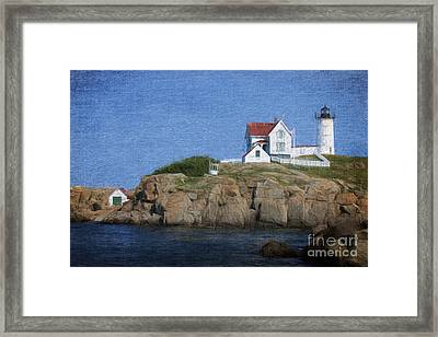 Nubble Lighthouse Framed Print by Jayne Carney