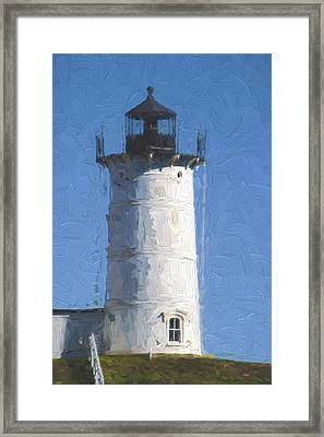 Nubble Lighthouse Maine Painterly Effect Framed Print