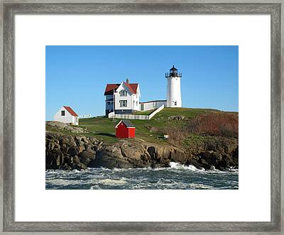 Nubble Lighthouse One Framed Print
