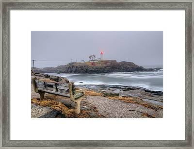 Nubble Lighthouse View Framed Print