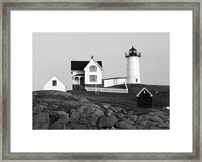 Nubble Lighthouse Framed Print by Will Gunadi