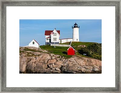 Nubble Lighthouse York Maine Framed Print