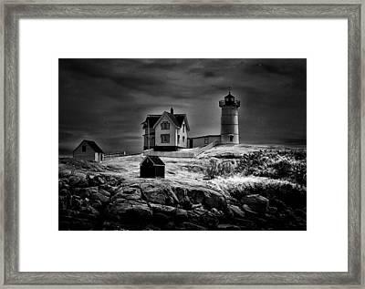 Nubble Night Framed Print