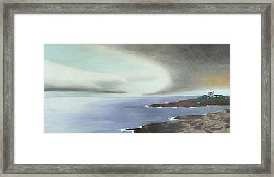Nubble Storm Framed Print by Dillard Adams