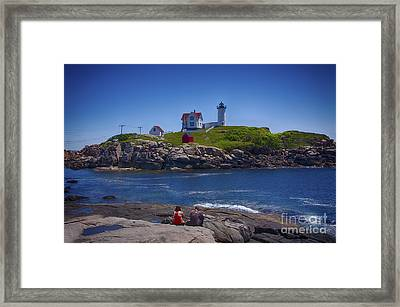 Nubble Summer Framed Print