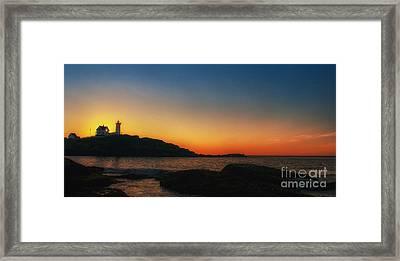 Nubble Sunrise Framed Print by Scott Thorp