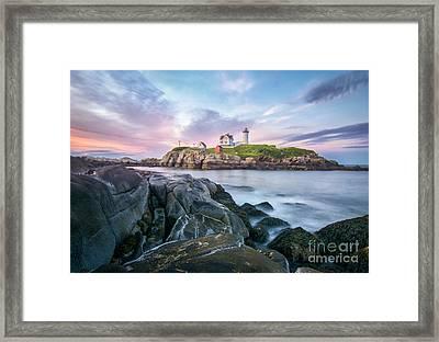 Nubble Sunset Framed Print