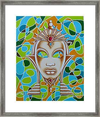 Nubian Modern Ivory Mask  Framed Print
