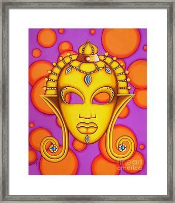 Nubian Modern Mask Gold Framed Print