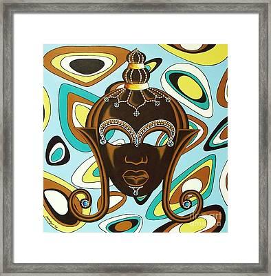 Nubian Modern  Mask Framed Print