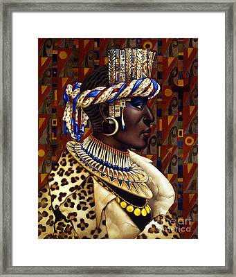 Nubian Prince Framed Print by Jane Whiting Chrzanoska