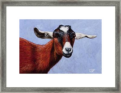 Nubian Red Framed Print by Crista Forest