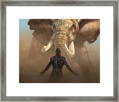 Nubian Warriors Framed Print
