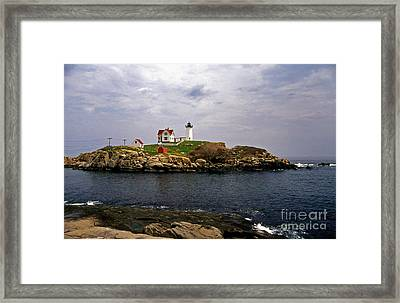 Nuble Lighthouse Framed Print by Skip Willits