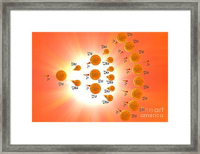 Nuclear Chain Reaction Framed Print by Carol and Mike Werner