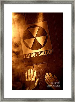 Nuclear Disaster Framed Print by Olivier Le Queinec