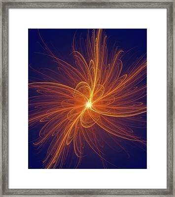 Nuclear Fission Framed Print by David Parker