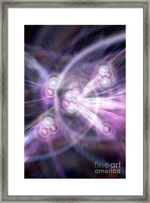Nuclear Fusion, Artwork Framed Print by Science Photo Library