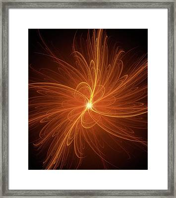 Nuclear Fusion Concept Illustration Framed Print