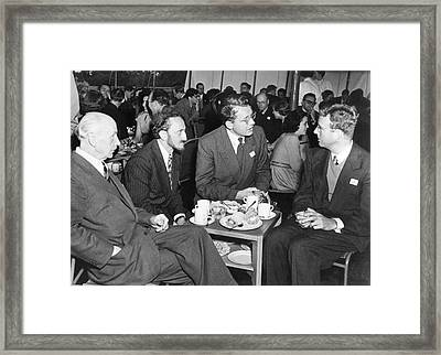 Nuclear Physicists And Nobel Laureates Framed Print by Emilio Segre Visual Archives/american Institute Of Physics