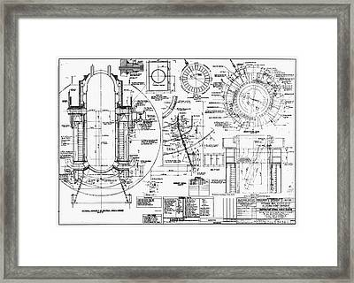 Nuclear Power Plant Components, Diagram Framed Print by Library Of Congress