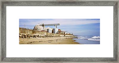Nuclear Power Plant On The Beach, San Framed Print