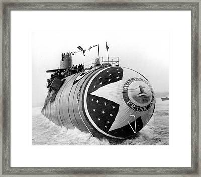 Nuclear Powered Submarine Framed Print by Retro Images Archive