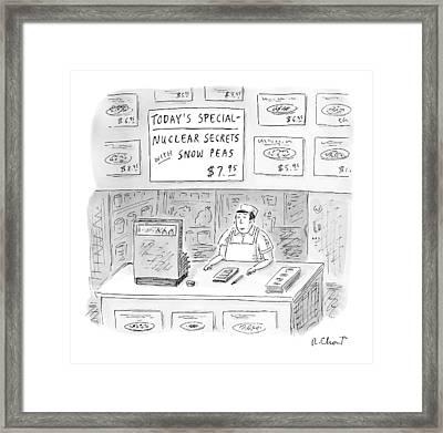 'nuclear Secrets With Snow Peas' Framed Print