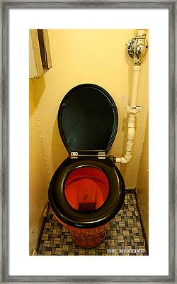 Nuclear Submarine Toilette Framed Print by Weston Westmoreland