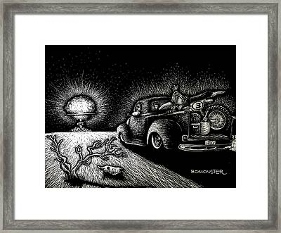 Nuclear Truck Framed Print by Bomonster