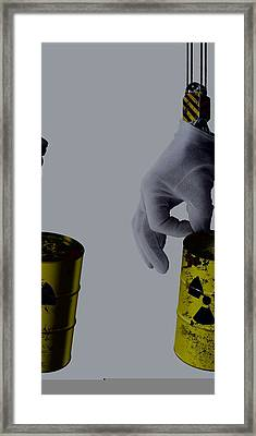Nuclear Waste Disposal, Conceptual Image Framed Print by Science Photo Library
