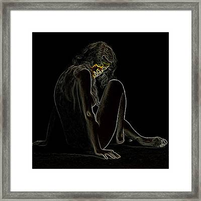 Nude 318 Man Ray Homage Framed Print by Brian King