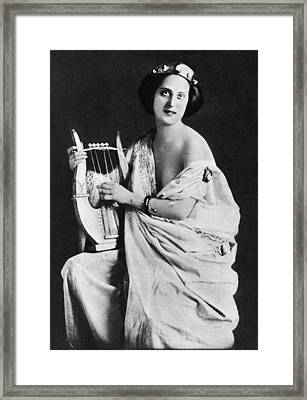 Nude As Ancient Lyrist Framed Print by Granger