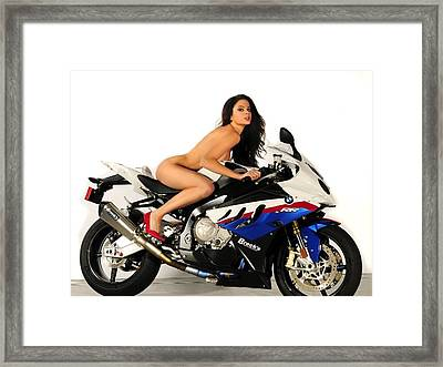 Nude Attack Framed Print by Lawrence Christopher