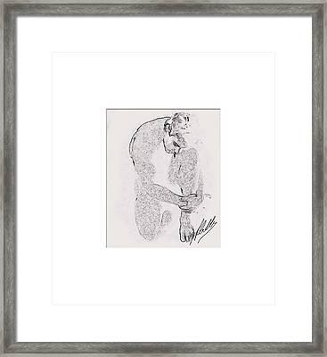 Nude Draw Framed Print
