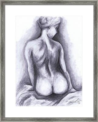 Nude Drawing 01 Framed Print