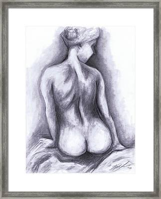 Nude Drawing 01 Framed Print by Kamil Swiatek