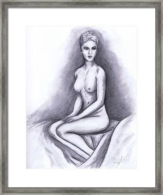 Nude Drawing 02 Framed Print by Kamil Swiatek