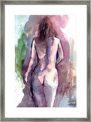 Framed Print featuring the painting Nude by Faruk Koksal