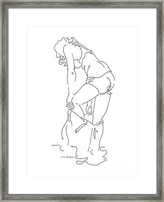 Nude Female Drawings 1 Framed Print